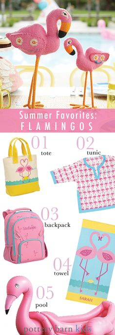 Get ready for your new summer obsession — FLAMINGOS! From an inflatable flamingo pool to flamingo totes to flamingo beach tunic cover-ups, all your flamingo needs are covered.