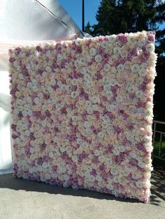 Buy marshmallows and romantic! Wall of Flowers - wedding photo zone, flower wall - -