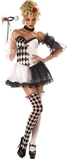 Le Belle Harlequin Adult Costume.  Sexy & fun.