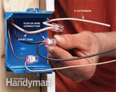 10 Electrical Mistakes Top 10 Electrical Mistakes - How to recognize and correct wiring blunders that can endanger your home.:Top 10 Electrical Mistakes - How to recognize and correct wiring blunders that can endanger your home. Home Electrical Wiring, Electrical Code, Electrical Projects, Electrical Outlets, Electrical Problems, Electrical Installation, Wire Switch, Garage Atelier, Outdoor Security Lights