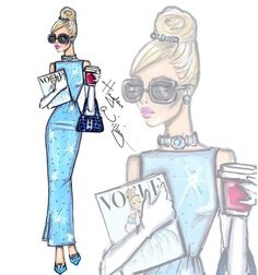 So very Audrey in breakfast at tiffany's. Cinderella Disney diva fashionistas by Hayden williams