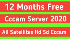 12 Months Free Cccam Server 2020 To 2021 Dishtv and All Satellites Cccam Server Free Online Tv Channels, Live Tv Free, Watch Live Tv Online, Tv En Direct, Best Server, 1 Year, Work On Yourself, 12 Months, Code Free