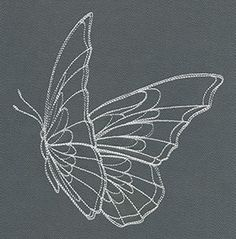 Flight & Dark Butterfly 1 | Urban Threads: Unique and Awesome Embroidery Designs