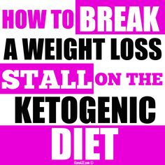 THIS is how you break a weight loss stall on the keto diet! IT WORKS