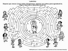 Image for Jesus Heals 10 Lepers Coloring Page