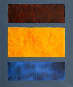 Brown, Orange, Blue on Maroon  Mark Rothko (inspired by)