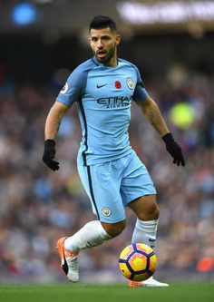 Sergio Aguero Photos - Sergio Aguero of Manchester City in action during the Premier League match between Manchester City and Middlesbrough at Etihad Stadium on November 2016 in Manchester, England. - Manchester City v Middlesbrough - Premier League Manchester England, Manchester City, Sergio Aguero, Zen, Football Boys, Middlesbrough, Premier League Matches, Soccer World, Soccer Players