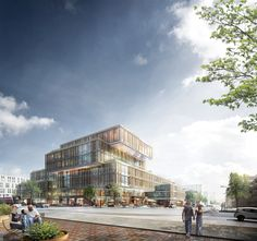 Arkitema Designs Municipal Office Building for Aarhus,Exterior Rendered View. Image Courtesy of Arkitema Architects