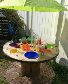 Variation on mud kitchen/activity table