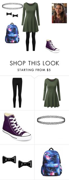 """""""Untitled #125"""" by pufferfishgal on Polyvore featuring Donna Karan, Doublju, Converse, Marc by Marc Jacobs, women's clothing, women's fashion, women, female, woman and misses"""