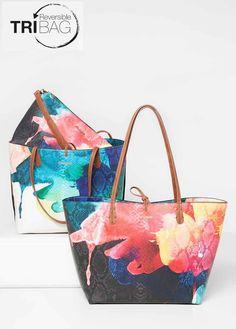 69X51P4_2000 Desigual Bag Reversible Aquarelle Rep