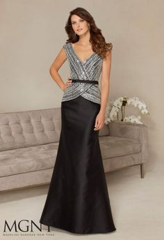 Shop Morilee's Jeweled Crystal Beading on Mock Two-Piece Larissa Satin Evening Dress. Evening Gowns and Mother of the Bride Dresses by Morilee. Jeweled Crystal Beading on Mock Two-Piece Larissa Satin Evening Gown Lace Summer Dresses, Dressy Dresses, Elegant Dresses, Sleeveless Dresses, Dresses 2016, Mother Of Groom Dresses, Mother Of The Bride, Evening Party Gowns, Evening Dresses