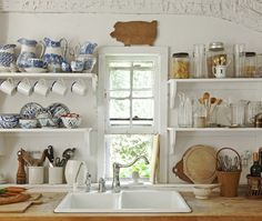 Country Kitchen Open-Shelf Display | photo Tim Street-Porter | design Chris Mead and Zoë Hoare | House & Home
