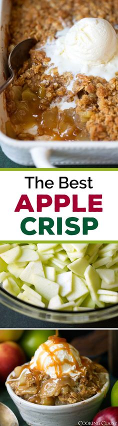 The Best Apple Crisp Recipe! I've been using this recipe for years every fall! Definitely a family favorite. The Best Apple Crisp Recipe! I've been using this recipe for years every fall! Definitely a family favorite. Homemade Apple Crisp, Best Apple Crisp Recipe, Apple Crisp Topping, Apple Crisp Easy, Apple Crisp Recipes, Apple Crisp Healthy, Apple Turnover Recipe, Köstliche Desserts, Delicious Desserts