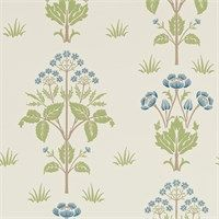 The Original Morris & Co - Arts and crafts, fabrics and wallpaper designs by William Morris & Company | Products | British/UK Fabrics and Wallpapers | Meadow Sweet (DM6P210348) | Morris Archive Wallpapers