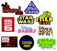 Disney Titles SVG's svg www.daintyscraps.com