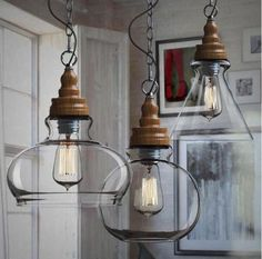 Zest Lighting - Nordic Wood Cap and Spherical Glass Shade Pendant, $149.00 (http://www.zestlighting.com.au/nordic-wood-cap-and-spherical-glass-shade-pendant/)