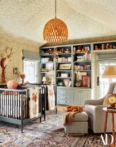 Emily Ward Designs a Family Home for Herself and Actor Giovanni Ribisi - Architectural Digest Architectural Digest, Home Interior, Interior Design, French Dining Tables, Hollywood Hills Homes, Nursery Twins, Nursery Ideas, Los Angeles Homes, Pottery Barn Kids
