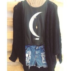 I would love to have this half crescent moon shirt. I'm a Cancer and we're ruled by the moon!