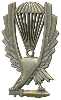 PORTUGAL PORTUGUESE MILITARY PARATROOPER PARACHUTE BADGE