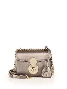 Ralph Lauren - Ricky Mini Metallic Leather Crossbody Bag