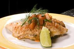 Broiled Fish With Lemon Sauce