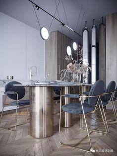 Ux Design, House Design, Terrazzo Tile, Calacatta, Paris, Dining Table, Chair, Modern, Kitchen