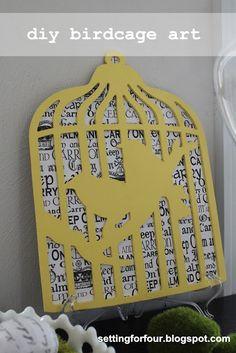 How to make DIY Birdcage Art from www.SettingforFour.com #art #diy #home #decor