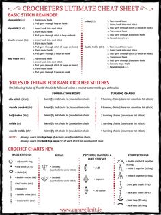 Ultimate Crochet Cheat Sheet