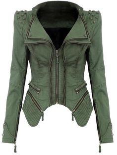 Sharp Studded Shoulder Jacket. #fall #must