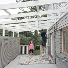 Pergola Awning Roof, Deck Awnings, Three Birds Renovations, Deck With Pergola, Outdoor Structures, Sally, Instagram Posts, Outdoors, Space