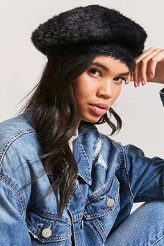 0f30fd34 Forever 21 Faux Fur Beret Affordable Jewelry, Affordable Fashion, Summer  Hats, Winter Hats