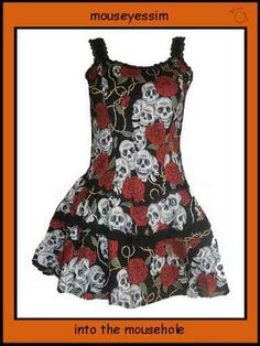 Living Dead Souls Rose & Skull tattoo dress @ mouseyessim