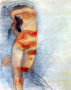 """Minerva"" drawing by Rodin"