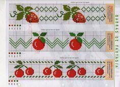 Ateliê Artetramas - Artesanato: Gráficos Ponto Cruz - Frutas