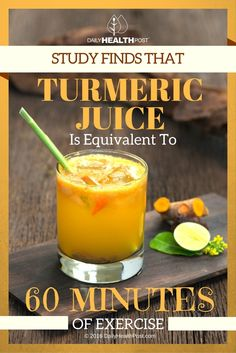 The more researchers learn about turmerics healing abilities the more they take interest in the spice. As it stands there are over 5000 studies on the roots ability to treat cancer arthritis diabetes and depression better than drugs. Turmeric Shots, Turmeric Juice, Fresh Turmeric, Turmeric Recipes, Tumeric Benefits, Turmeric Smoothie, Detox Drinks, Healthy Drinks, Healthy Tips
