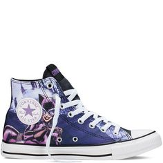 Converse Unisex Chuck Taylor All Star Hi Catwoman Sneaker Eggplant Purple 030 * Visit the image link more details. (This is an affiliate link) Converse Trainers, Converse Shoes, Shoes Sneakers, Sneakers Fashion, Fashion Shoes, Converse Fashion, Purple Converse, Painted Sneakers, Eggplant Purple