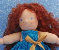 Merida, Brave , five inches Waldorf doll, natural materials on Etsy, $29.05 AUD