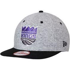 3b7ef196abc Men s New Era Gray Black Sacramento Kings Current Logo Team Rogue 9FIFTY  Snapback Adjustable Hat