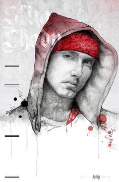eminem graffiti | Ilustraciones Hip Hop por Michael Molloy