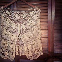 Bohemian Gypsy Shawl Upcycled Crocheted Poncho by LilithPearl, $48.00