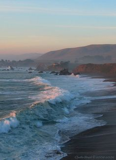 Pacific Sundown-  Sonoma County Coastline. Been there and a picture doesn't even do it justice!