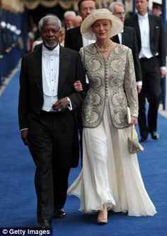 Royal guests attending Prince Willem-Alexander's Inauguration: Kofi Annan and his wife Nane