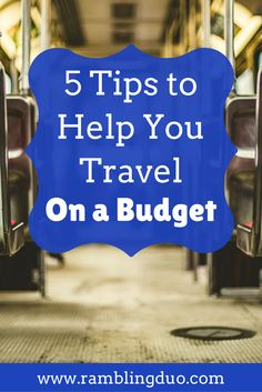 Travel can be expensive if you don't know the secrets to budget travel! Check out 5 ways we save money on our trips before we even leave. You'll want to save this to your board!