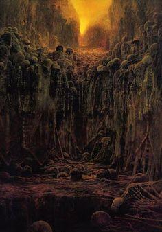 Les tableaux morbides de Zdzisław Beksinski    tableaux morbides de Zdzislaw…