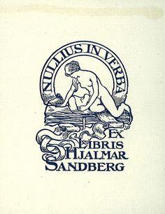 [Ex libris Hjalmar Sandberg] Ex Libris, Paper Lampshade, Scratchboard, Ink Illustrations, Vintage Design, Graphic Shirts, Book Art, Typography, Goth Style