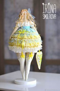 Textile Art Doll FREYA – shop online on Livemaster with shipping...(pleasantly plump and so darn CUTE!)....