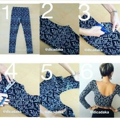 How to make crop top with leggins.