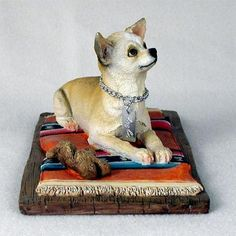 Dog Figurine - Chihuahua Tan White - My Dog