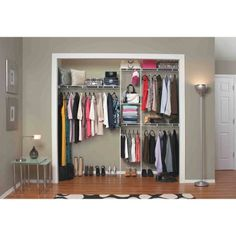 Closetmaid Expandable Closet Organizer, 5 Ft. To 8 Ft., White